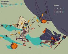 2011年10月壁紙カレンダー