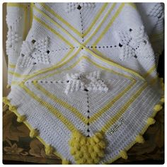 Popcorn baby blanket Popcorn bebek battaniyesi