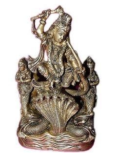 Krishna Dancing Over the Serpent Hindu God Brass Statue Murti Altar Idol Gift 11 by Mogul Interior, http://www.amazon.com/dp/B00C18EMOE/ref=cm_sw_r_pi_dp_zDwurb08NMNMJ