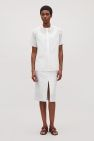 COS image 1 of Cut-out cotton shirt in White