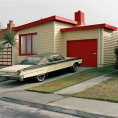 Oh my! That's a sight to behold. I'd buy a house like that and park a 54 Chevy in the drive.