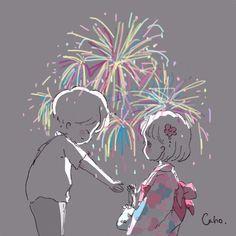CahoさんはInstagramを利用しています:「今夜は2人きりだから 神さまどうか微笑んで #illust #illustrator #illustration #summer #浴衣 #夏祭り #昨日の続き #Twitterに完結投稿予定です」 Anime Love Couple, Couple Cartoon, Anime Chibi, Anime Art, Cute Couple Wallpaper, Cute Kawaii Drawings, Dibujos Cute, Love Illustration, Kawaii Wallpaper