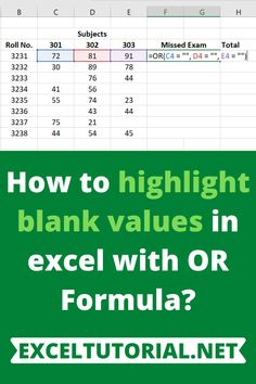 How to highlight blank values in excel with OR Formula? Quotation Marks, Getting To Know, Quotations, How To Find Out, Ms, Highlights, Tutorials, Student, Let It Be