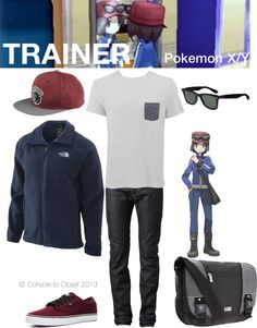 Console to Closet - Pokemon XY Calem Easy Cosplay, Casual Cosplay, Cosplay Outfits, Anime Outfits, Pokemon Trainer Costume, Pokemon Cosplay, Zelda Anime, Character Inspired Outfits, Boy Fashion