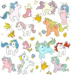 My Little Pony old art . Vintage My Little Pony, Original My Little Pony, Childhood Toys, Childhood Memories, My Little Pony Tattoo, Filly, Little Poney, Kawaii, Cultura Pop