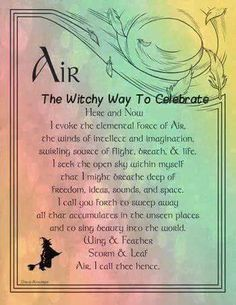 My elements are Air and Earth Wiccan Witch, Wiccan Spells, Magic Spells, Sigil Magic, Wiccan Magic, Air Goddess, Air Magic, Magick Book, Witch Herbs