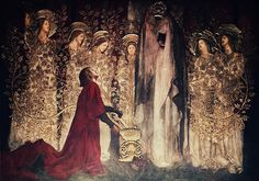 Galahad and the Grail by Edwin Austin Abbey: