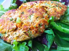 Sweet Potato Tuna Burger. I love both individually so why not together? Grill it up!