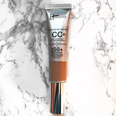 """NEW It Cosmetics CC Cream in TAN w/ spf 50 A brand new it cosmetics your skin but better cc cream with spf 50 in SHADE TAN.   """"This cc cream is your full coverage color correcting cream, anti aging serum, and spf50 all in one! Perfect for any one who wants to achieve their most perfect beautiful skin!""""  🚫No Trades🚫 It Cosmetics Makeup Foundation"""