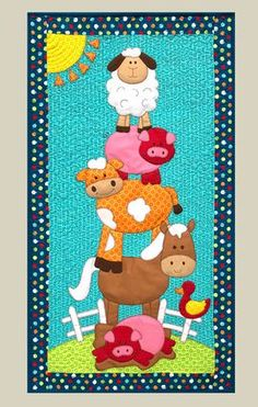 Farm+Friends+-+by+Kids+Quilts+-+Wall+Quilt+PatternSECONDARY_SECTION%2422.00%3A+Fabric+Patch%3A+Patchwork+Quilting+fabrics%2C+Moda+fabric%2C+Quilt+Supplies%2C%A0Patterns
