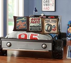 Items Similar To Vintage Car Sign Pillows Baby Gift Boy Nursery Decor Race Throw Pillow Themed Signs Auto Parts Tire On