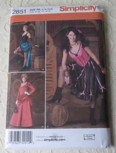 Simplicity Costume Patterns 2851 Historical Western by dreamy1, $7.00