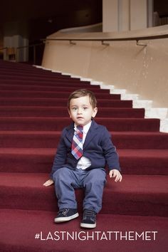 The future of opera is in good hands.  Such a handsome little man.