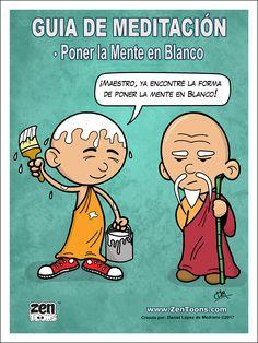 AFICHE ZENTOONS 03. Guía de Meditación. #zentoons #webcomics #zencomics #cuentoszen #historiaszen #zenpencil #espiritualidad #zen #budismo