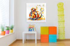 Acryl Gemälde 'Im Schneckentempo' 100x100cm