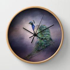 A Royal Jewel - Peacock - Wildlife Wall Clock by Jai Johnson - $30.00