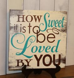 How SWEET is to be LOVED by YOU por gingerbreadromantic en Etsy