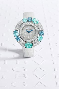 Paraiba, High Jewelry, Bvlgari, Bracelet Watch, Watches, Diamond, Bracelets, Accessories, Vintage