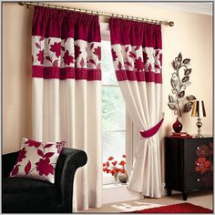 Black and white curtains for living room Design Ideas Red White Curtains Living Room Black And White Living Room Curtains Red And White Living Room Amazing Home Interior Design Ideas Red White Curtains Living Room Red Curtains For Living Room Red Red Unique Curtains, Home Curtains, Curtains Living, Beautiful Curtains, Elegant Curtains, Window Drapes, Kitchen Curtains, Bay Window, Living Room Paint