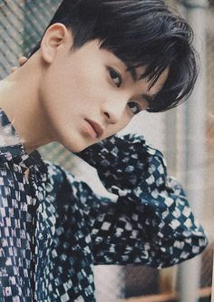 """""""and when the world needed him (mark lee black hair undercut) the most he vanished 💔"""" Mark Lee, Taeyong, Jaehyun, Lucas Nct, Winwin, Black Hair Undercut, Nct 127 Mark, Yuta, Canadian Boys"""