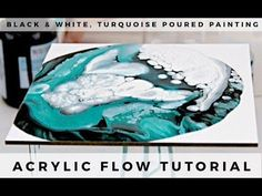 Pour Painting: Dirty Pour Method Using Silicone Oil and Basic Acrylic Paint on Masonite - YouTube