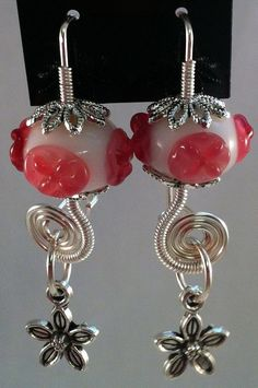 Flowery Coil Earrings by Bitz2Glitz on Etsy, $18.00