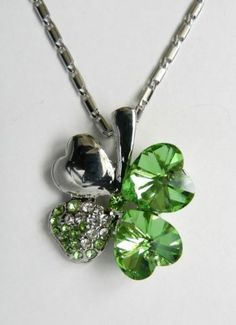 0640f687a485c 123 Best Emerald Swarovski Four Leaf Clover Necklace images in 2016 ...