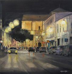 Pablo Rubén López Sanz - Awarded in the Night Fast Painting Contest of Alcázar de San juan(Ciuad Real) Acuarela/Watercolor, 81 x 81 cm.