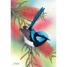 Original Australian Art Card. Blank Inside for Your Own Message.