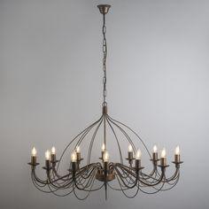 Candelabro ZERO BRANCO 12 bronce envejecido  #lamparas #decoracion #iluminacion