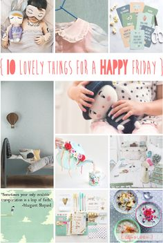 lily&Bloom . hAppy fridAy . { 10 lOvely things that caught my eye this week . uber cUte little one @littlegatherer . & . a beautiful new collection from @caramelshop shown @iloveplaytime . lunchbox notes from @tinyme . & . handknitted toys from @lauvely_ . would look just at home in a gorgeous interior from @fermliving } .