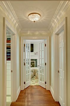Replace Interior Solid Doors With Glass or French Doors Interior doors help provide soundproofing, something very important in the prevalent open plans today. However, French doors provide a way for rooms to share light and to avoid shutting rooms off.