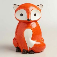 Ceramic Fox Cookie Jar
