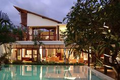 Bali Villa Casis by Nagisa Bali in Indonesia, Asia Bali Getaway, Balinese Villa, Balinese Decor, Sanur Bali, Luxury Villa Rentals, Bali Fashion, Beautiful Villas, Tropical Houses, House Design