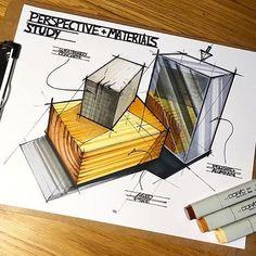 "3,102 Me gusta, 9 comentarios - designdaily.. (@letsdesigndaily) en Instagram: ""Perspective & Materials Study. From @knackdesignstudio - - #sketching #perspective #material…"""