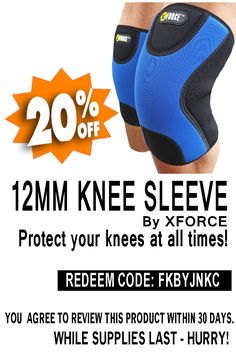 f20759afef Knee Sleeves for Weightlifting, Power-lifting, Cross-fit & Others Heavy  Fitness Workouts - + Layer Neoprene Sleeve for Extra Support, Compression  And Warmth