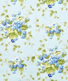 Waverly Sweet Violets Seaglass Fabric   onlinefabricstore.net