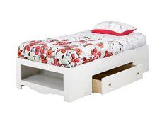 Amazon.com - Nexera 313903 Dixie 39-Inches Twin Size Storage Bed, White - Bedroom Furniture Sets