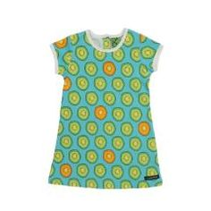 Kiwi Print Dress - Light Sky Blue