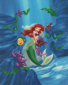 Ariel - Dreams Under the Sea ~ Fine-Art Print - The Little Mermaid Art Prints and Posters - Disney Pictures