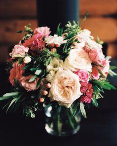 Beautiful blush and pink bouquet   Photography: Jarrod Renaud - jarrodreno.com  Read More: http://www.stylemepretty.com/2014/12/16/rustic-ranch-colorado-mountain-wedding/