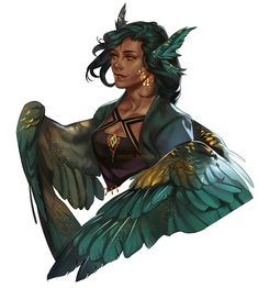 Fantasy character with wings