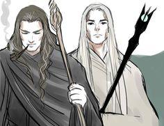 Gandalf/Olórin & Saruman /Curumo