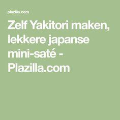 Zelf Yakitori maken, lekkere japanse mini-saté - Plazilla.com