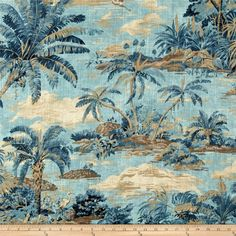 996a8d6b0d4 Tommy Bahama Home Dec Scenic Beauty Riptide from  fabricdotcom Screen  printed on cotton slub duck