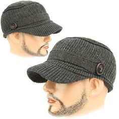 Cadet Box KBC gray Army Military Fashion Knit Style Skull Beanie Cap HAT  Unisex 66173537b8f