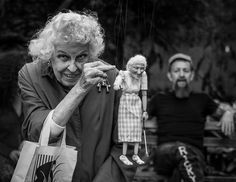 Doris Diether is a former journalist and longtime activist in New York who is often seen strolling through Washington Square Park chatting with just about everyone. Ricky Syers is a musician and marionetteer who encountered Diether the first week he arrived in the park with his marionettes several
