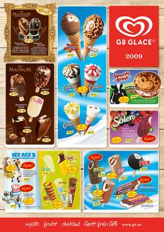 perfect for a ice cream shop Glace-Glimtar - The Simpsons, Chocolate Chips, Popsicles, Under The Sea, True Love, Smoothie, Cereal, Almond, Strawberry