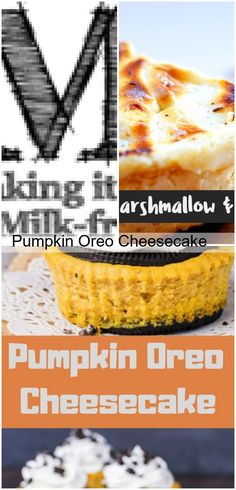 Pumpkin Oreo Cheesecake Dark and Spicy Pumpkin PieThis easy no bake. Almond Flour Cakes, Coconut Flour, Dairy Free Recipes, Bread Recipes, Cheesecake Desserts, Cake Flavors, Keto Bread, Free Food, Spicy