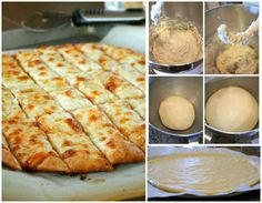 Fail-Proof Pizza Dough and Cheesy Garlic Stick #diy #food #recipe